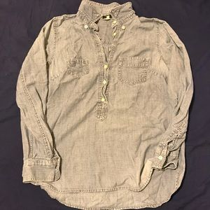 Jcrew Chambray Button Up Shirt